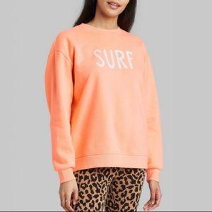 "NWT Orange ""Surf"" Large Sweatshirt By Wild Fable"